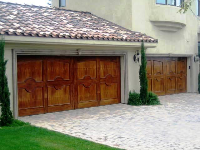 Custom impact wood garage doors from deco design center in miami fl 33166 - Wooden garage door designs ...