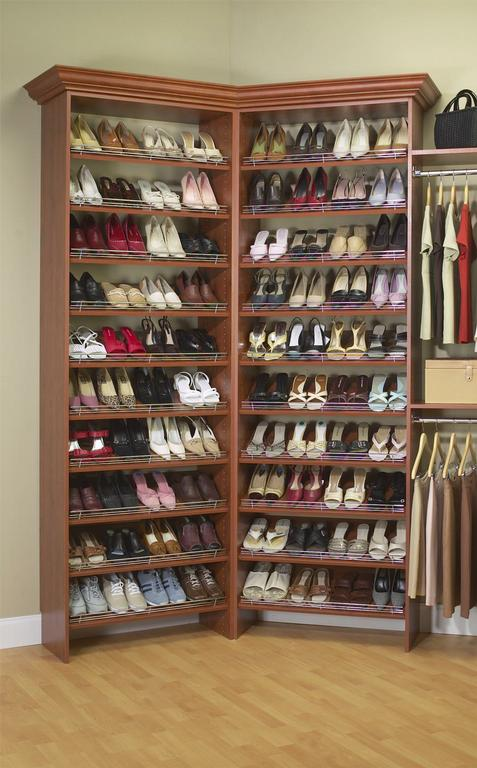 how to make shoe shelves in closet