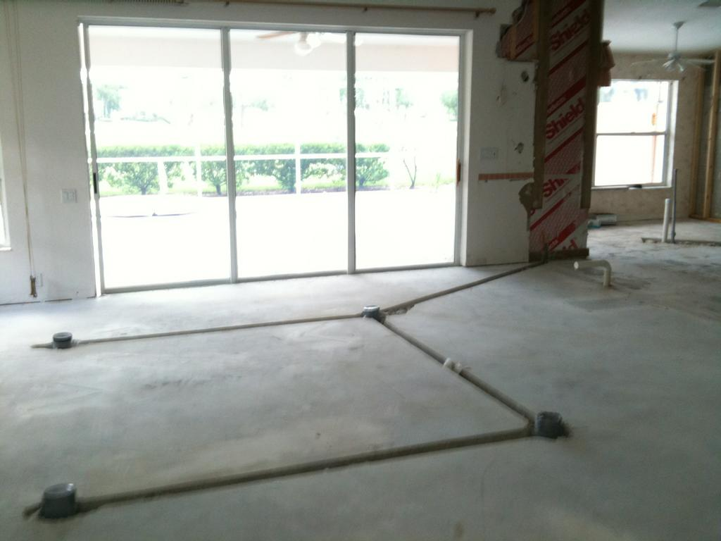 Electrical floor outlets rough in from electrical for Floor electrical outlet