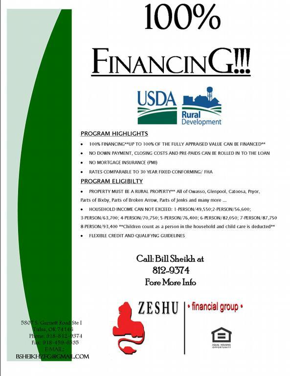 USDA Mortgage Oklahoma, USDA Home Loan Oklahoma, 100% USDA ...