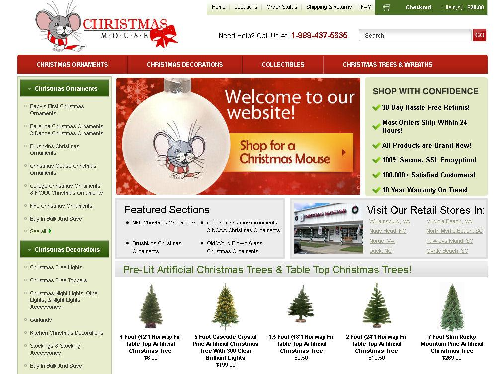 christmasmouse dot com home page 1 mouse color 5x5 by christmas mouse warehouse - Christmas Mouse Virginia Beach