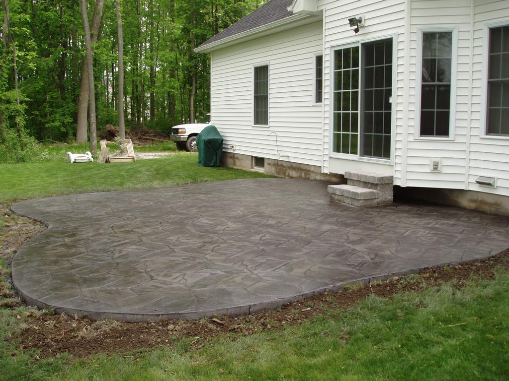 grey colored concrete patio related keywords suggestions