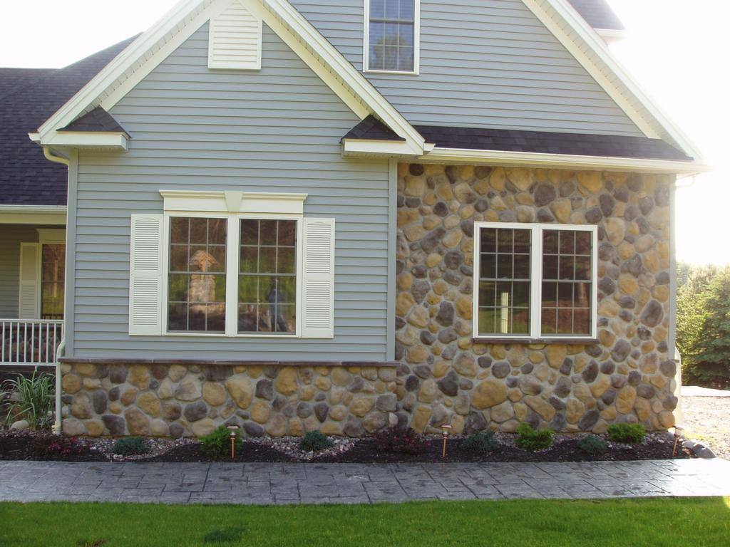 Stone Round Multi House Front 1 From Gabriel Masonry