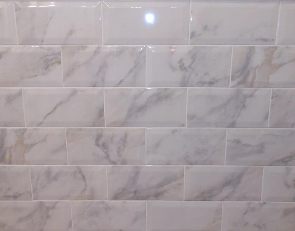 White marble subway tile the image kid White subway tile