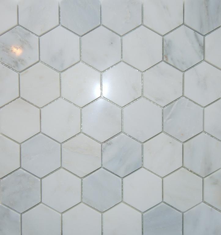 alfa img showing white marble hexagon tile