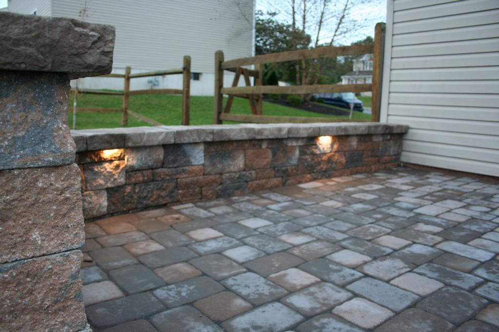 Perfect Integral Led Lights Douglassville Paver Patio From Willow