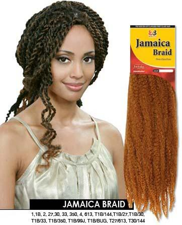 Crochet Braids Jamaican Twist Hair : Jamaican Crochet Braids with Marley Hair Twist