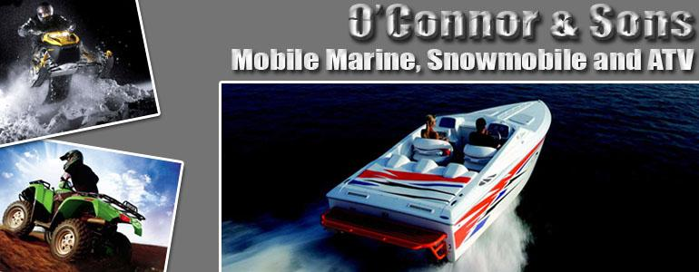 header by O'Connor and Son's  Marine & Snowmobile