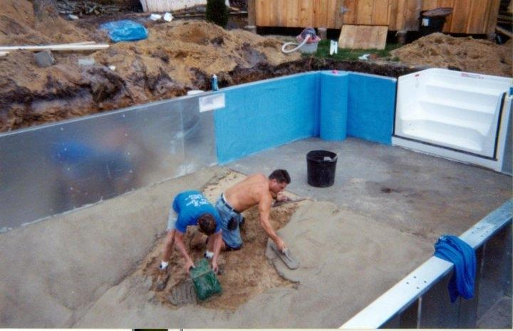 Swimming Pool Installation Service : Pictures for piece of the beach swimming pool installation