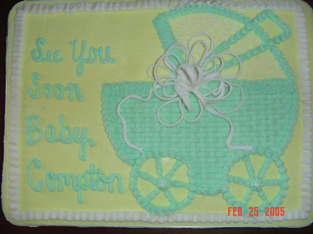 baby shower carriage from sweet bliss specialty cakes in brainerd