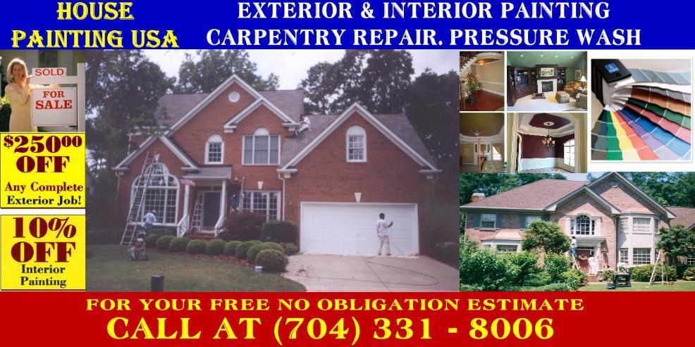 House Painting Usa Charlotte Nc 28210 704 363 8249