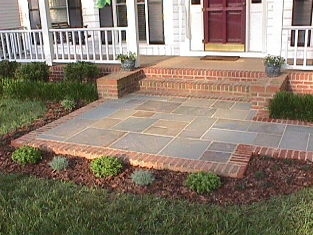 Blue Stone Patio Designs Raleigh Bluestone Brick From Down To Earth .