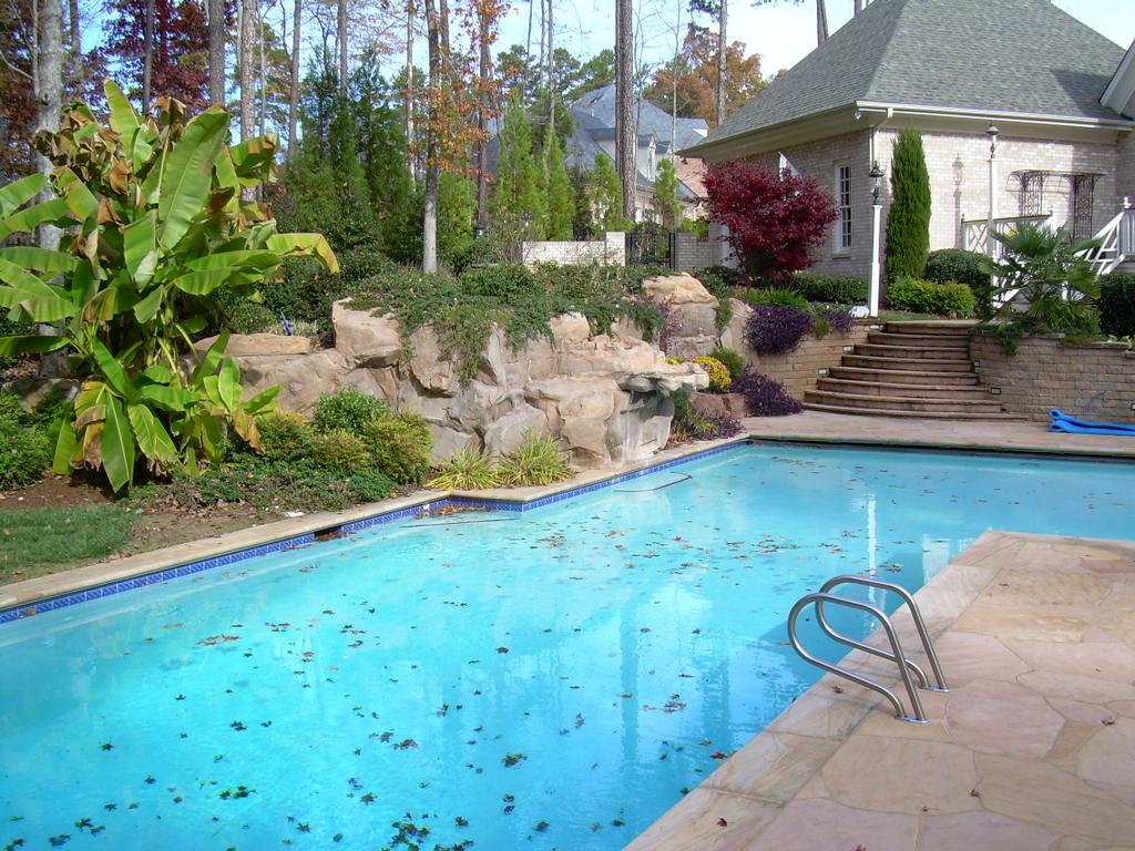 Raleigh pool from down to earth landscape for Pool design raleigh nc
