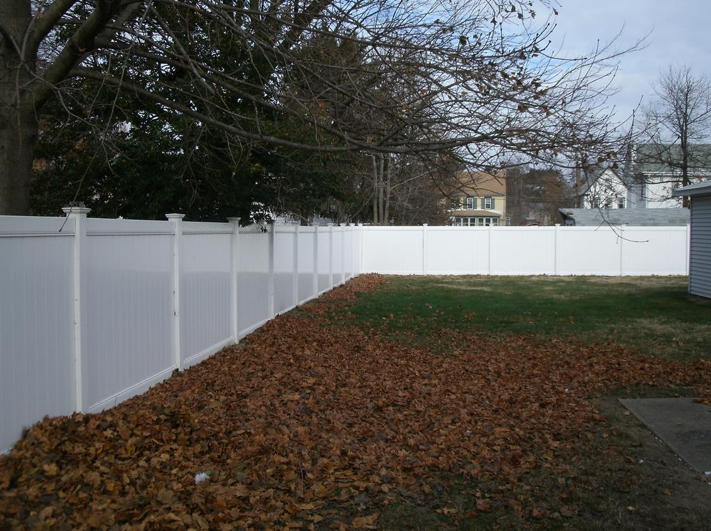 Vinyl privacy fence foot from complete home