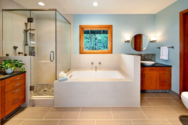 Zen Inspired Bathroom Remodel From Henderer Design Build In Corvallis Or 97333