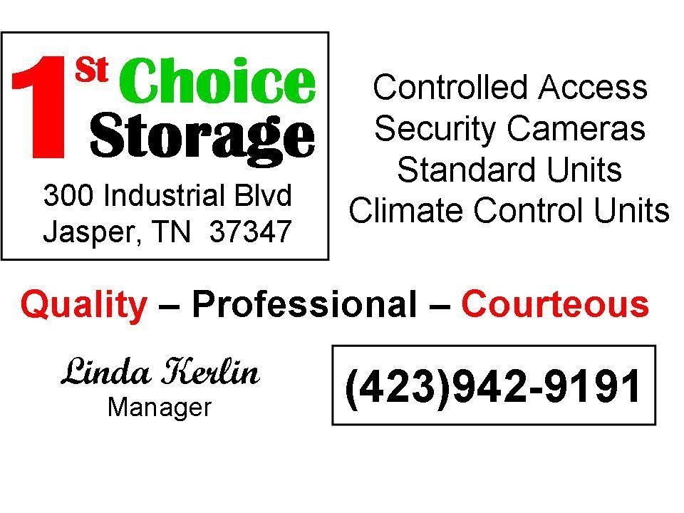 Business Card   Linda. Logo By 1st Choice Storage