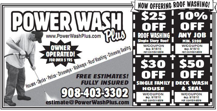 Power Wash Plus Coupon Summer 2010 From Power Wash Plus In