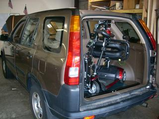 Crv Off Road >> Bruno Scooter Lift in a Honda CRV | Monmouth Vans Access ...