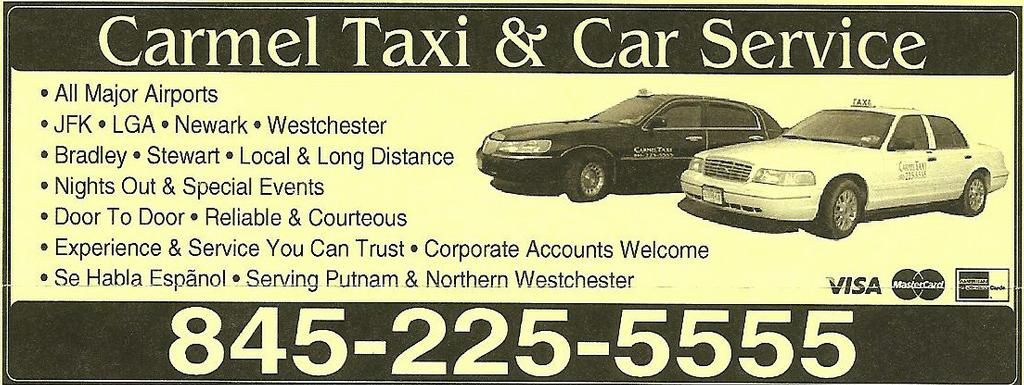 Carmel Taxi And Car Service - Carmel NY 10512