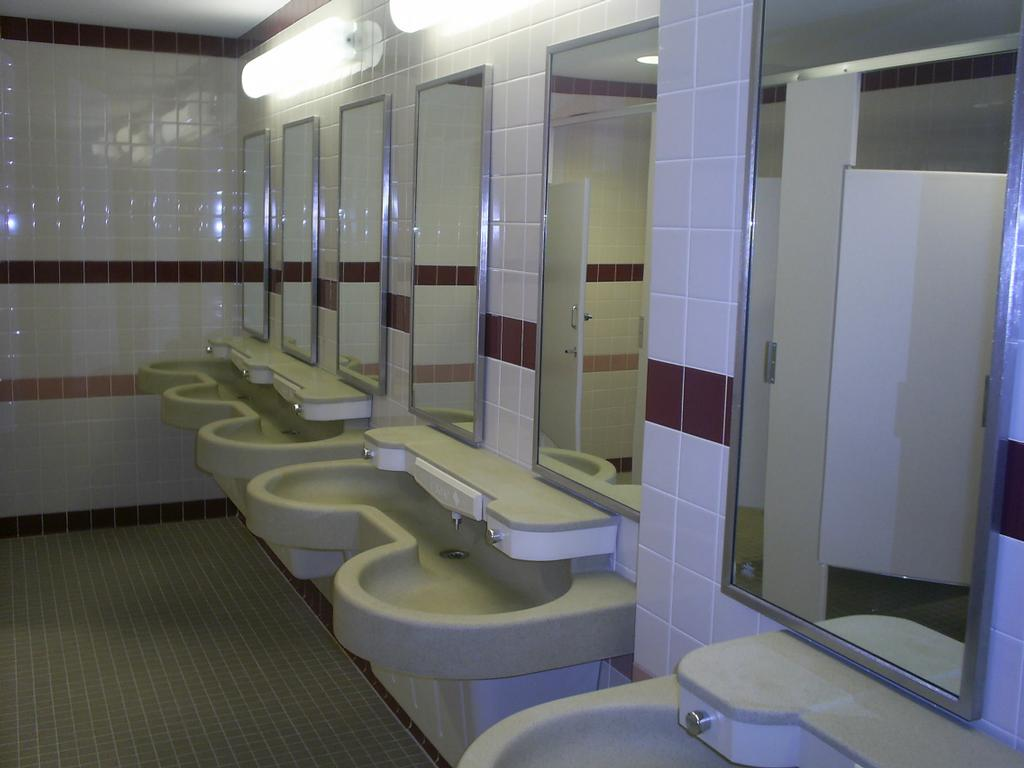 School Cleaning Bathroom From Noreast Cleaning In