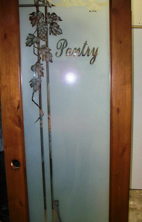 grape vine etched pantry door from best impression glass