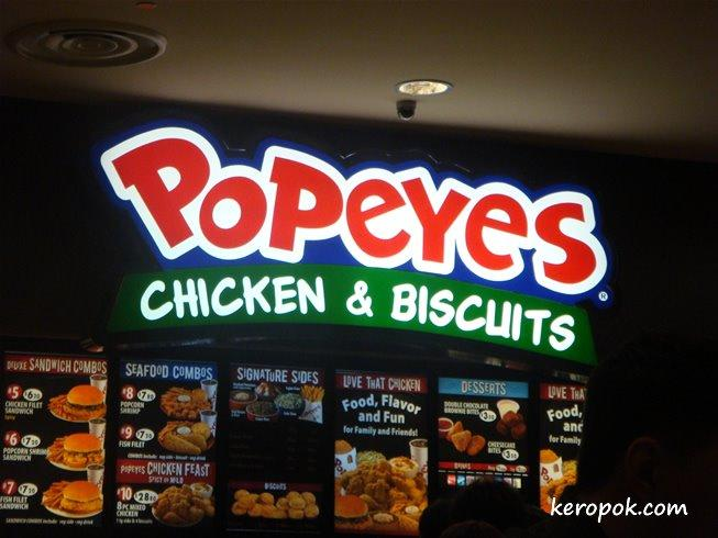 popeyes famous fried chicken biscuit