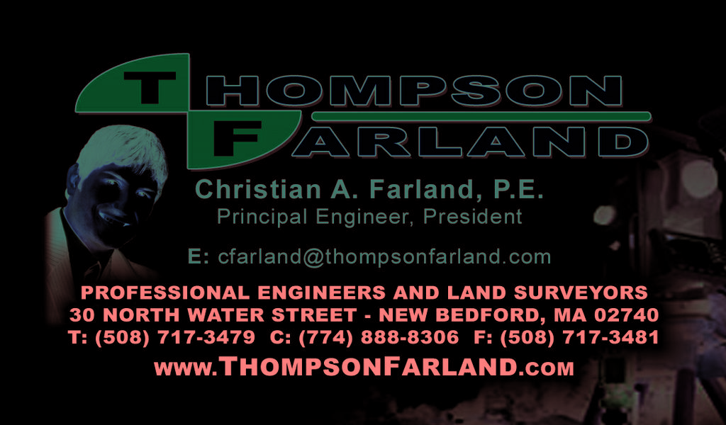 Thompson farland inc professional engineers and land surveyors business card front reheart Gallery