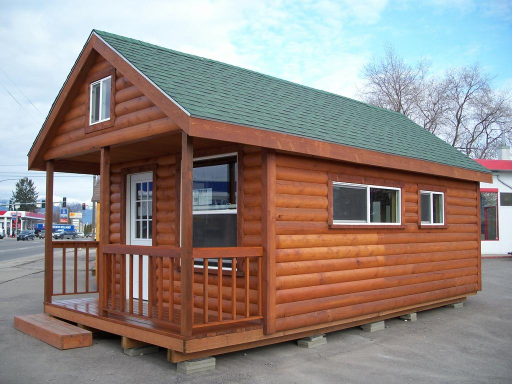 12x24 cabin for sale grizzly building company inc in for Cost of building a house in montana