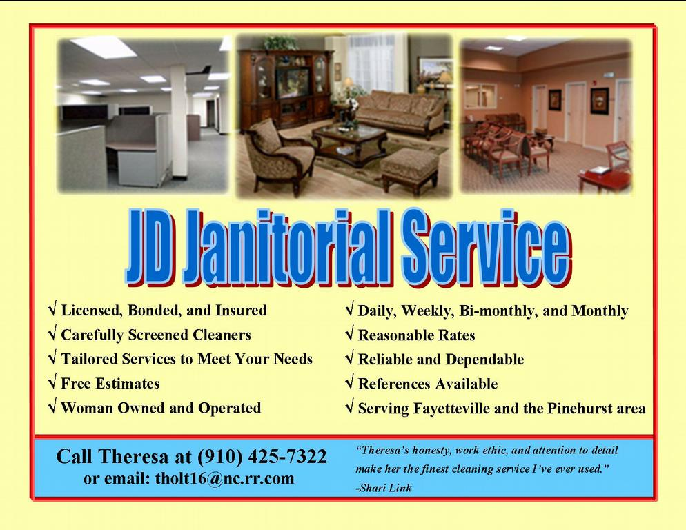 new brochures 001 from JD Janitorial Services Inc. in Fayetteville ...
