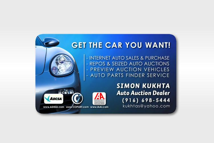 Pictures for artisan productions sacramento website for Auto sales business cards