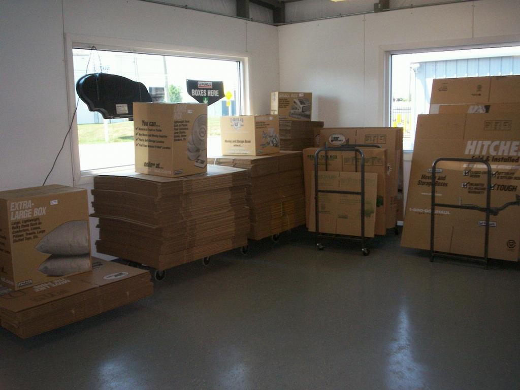 u haul moving boxes from rome hilliard self storage