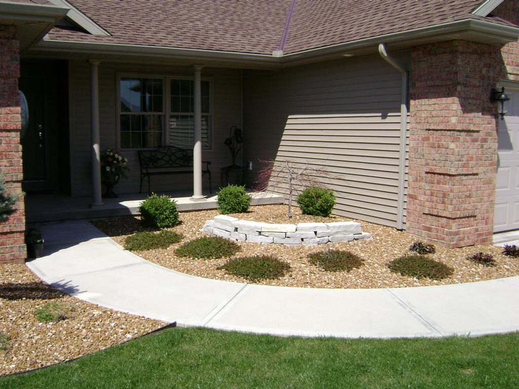 Front Entry Landscape From Natures Way Landscaping In