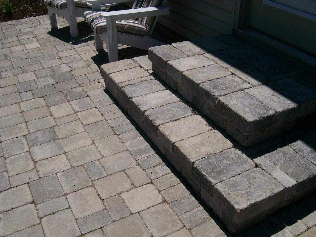 paver patio steps from natures way landscaping in defiance oh 43512 - Patio Steps Design