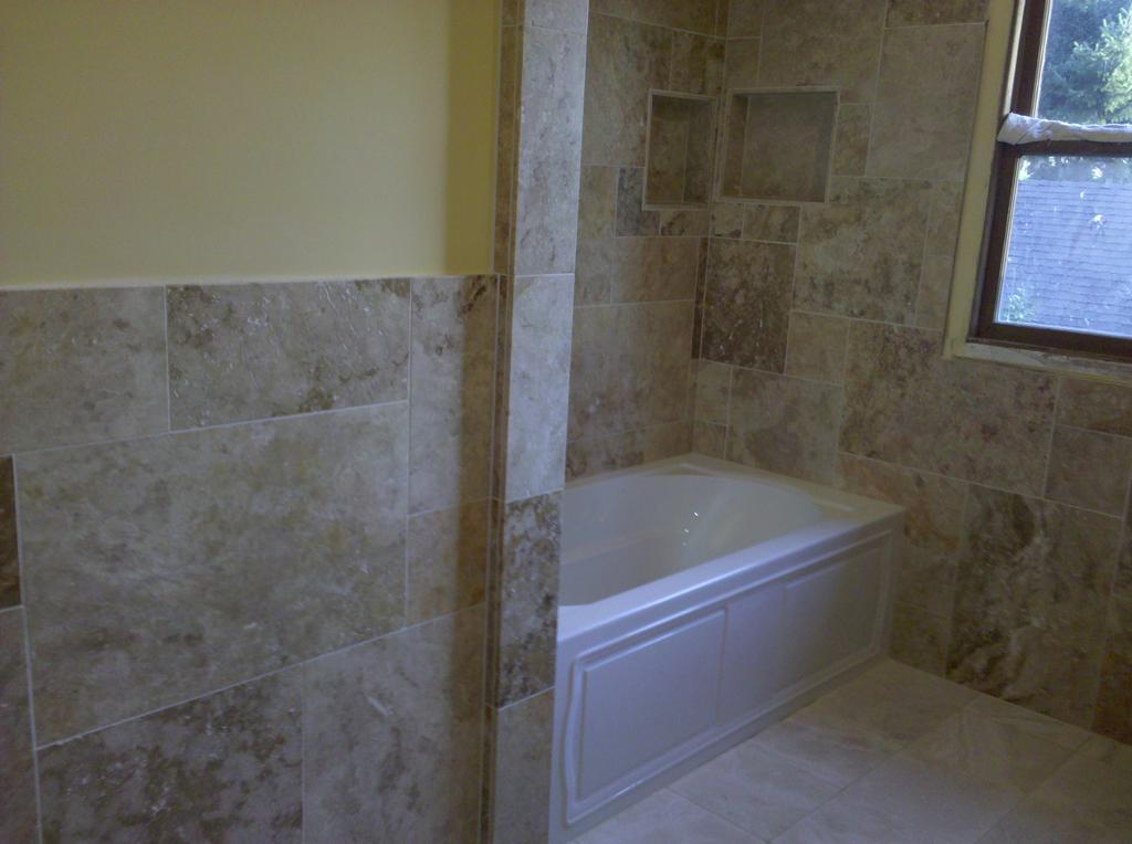 larger view of slate tile bathroom by dewolf tile stone llc tile