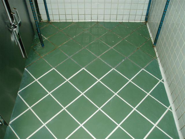 Floor Green Tile Before After By DeWolf Tile Stone LLC Tile