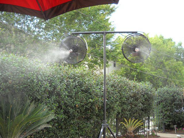 Misting Fans Texas : Tripod misting fans g from cool off in houston tx