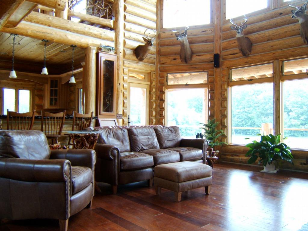 Custom Log Home Interiors By Turtlebayart