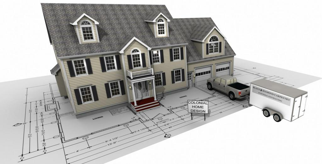 House On a Blueprint from Colonial Home Design in Westford MA 01886