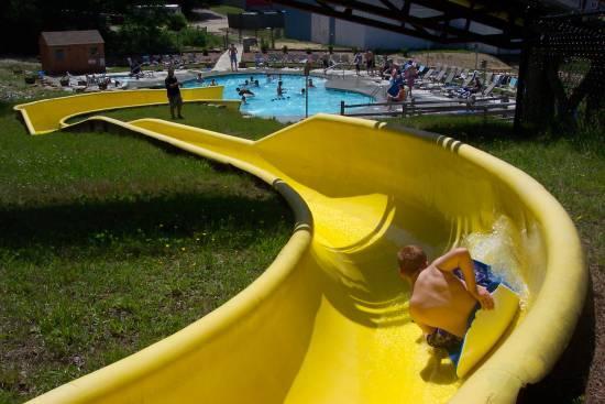 Slide Corner Shot From Flat Rock Bridge Family Resort