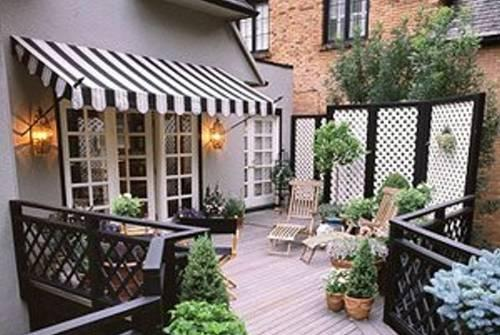 Perfect French Door Deck Awning