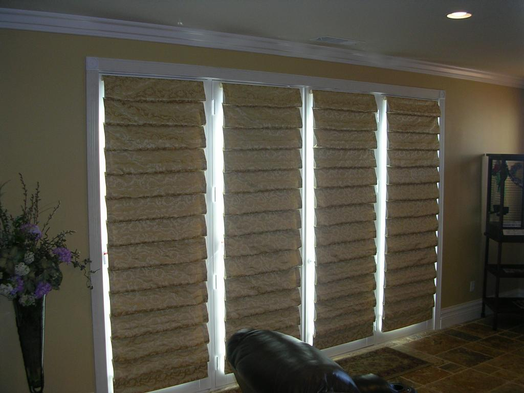 four soft folds on french doors from Blinds by Ray in Temecula, CA ...