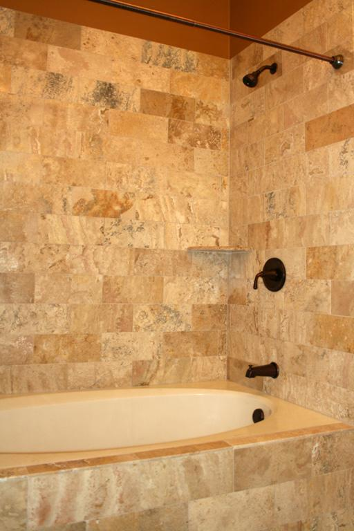 shower14L Travertine Tile Shower from Works of Art Tile