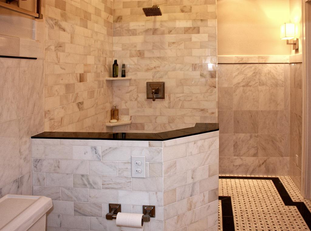 Click on photo to see how ceramic tile shower