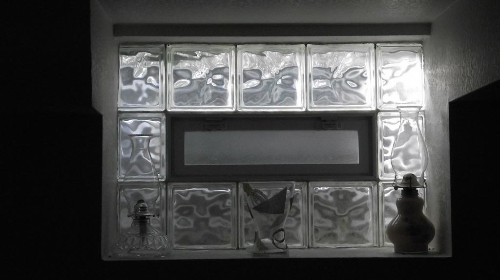 BASEMENT W/24X8 VENT DECORA. RICHFIELD,WI. by Superior Glass Block