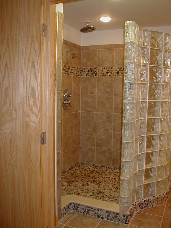 M doucette tile installations stevens point wi 54481 for Glass block floor
