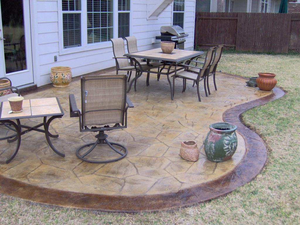 Decorative Patios From Custom Concrete Solutions In