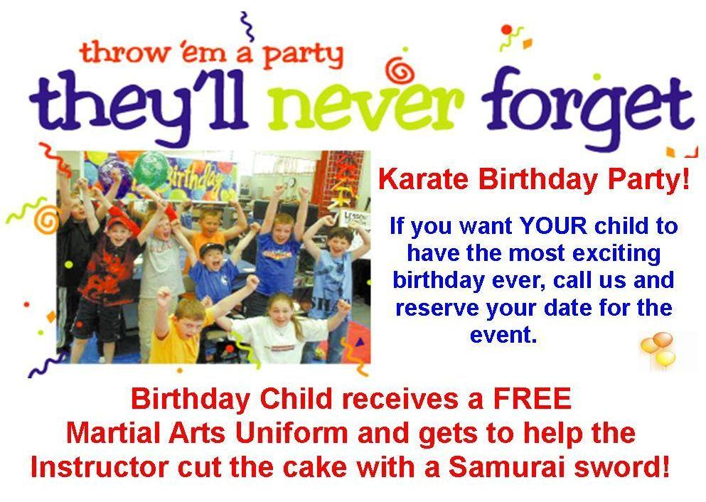 Martial Arts Birthday Party Invitations images