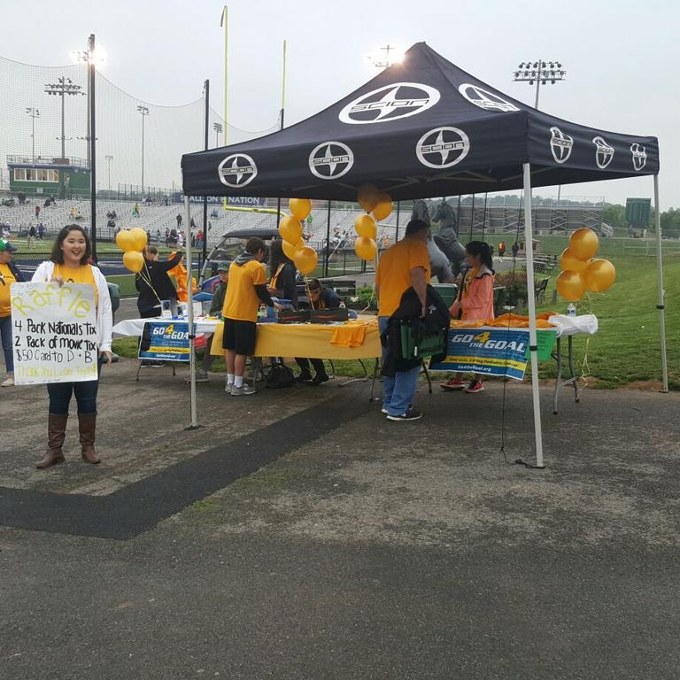 Lustine Toyota Out At South County High School. #Go4theGoal Raising  Awareness For Pediatric Cancer Research