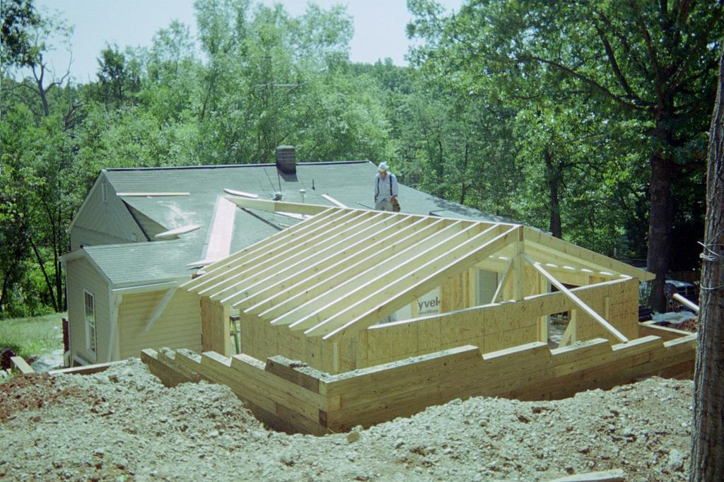 Addition roof framing from r r home improvement va class a for Roof addition