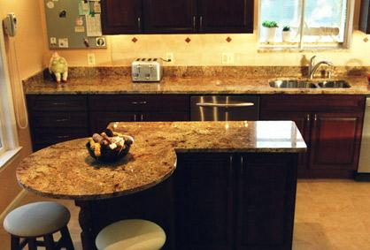 Contemporary Kitchen Countertop - granite countertops